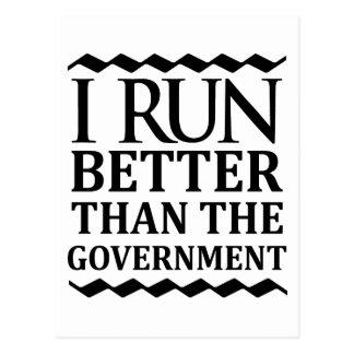 Eu funciono melhor do que o governo cartão postal