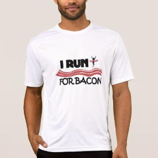 Eu funciono para o bacon - camisa Running