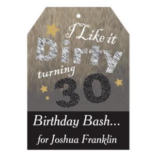 Eu gosto d 30 de giro sujos - aniversário de 30 convite 12.7 x 17.78cm