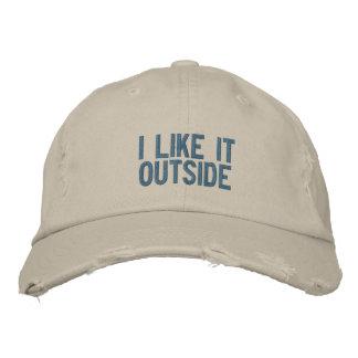 """""""Eu gosto d chapéu da parte externa"""" Boné Bordado"""