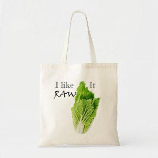 Eu gosto d saco de compras cru do Vegan da sacola Bolsa Tote