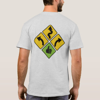Eu gosto da camisa da motocicleta do sinal de