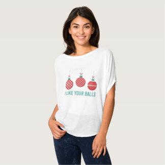 Eu gosto da camisa das suas mulheres das bolas