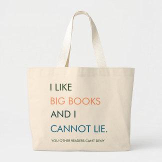 Eu gosto da sacola grande dos livros bolsa para compra