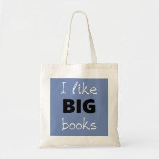 Eu gosto da sacola GRANDE dos livros Bolsa Tote