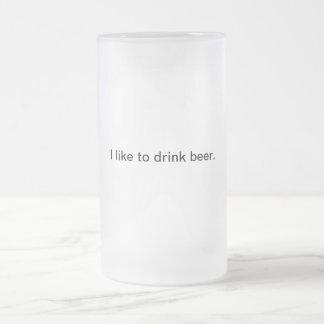 Eu gosto de beber a cerveja: Caneca de cerveja do