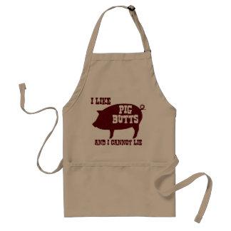 Eu gosto de bumbuns do porco e eu não posso avental