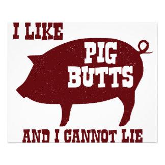 Eu gosto de bumbuns do porco e eu não posso encont flyer 11.43 x 14.22cm