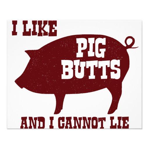 Eu gosto de bumbuns do porco e eu não posso encont panfletos