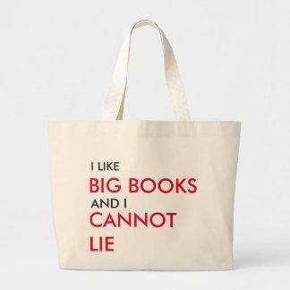 Eu gosto de livros grandes bolsa tote grande