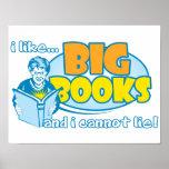 Eu gosto de livros grandes posters
