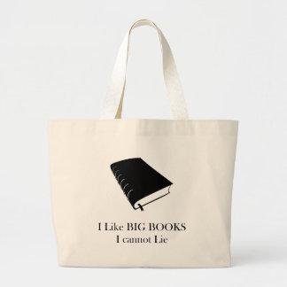 Eu gosto de livros que grandes eu não posso se bolsa tote grande