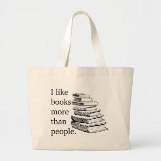 Eu gosto de livros… sacola tote jumbo