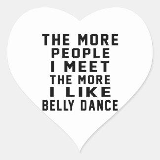 Eu gosto de mais dança do ventre adesivos em forma de corações