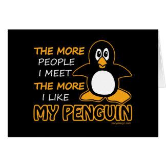 Eu gosto de meu pinguim cartao