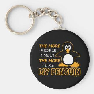 Eu gosto de meu pinguim chaveiro