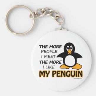 Eu gosto de meu pinguim chaveiros