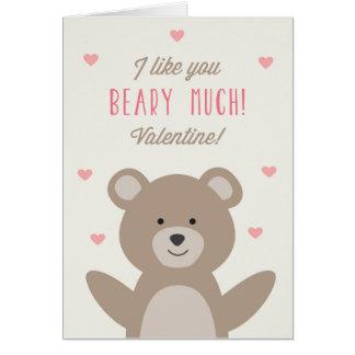 Eu gosto de você Beary muito cartão dos namorados