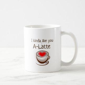 Eu gosto de você uma caneca romântica do humor do