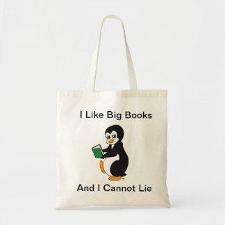 Eu gosto do bolsa grande dos livros