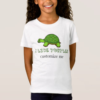 Eu gosto do costume bonito das tartarugas camiseta