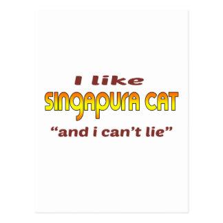 Eu gosto do gato de Singapura Cartão Postal