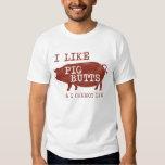 Eu gosto do t-shirt dos bumbuns do porco