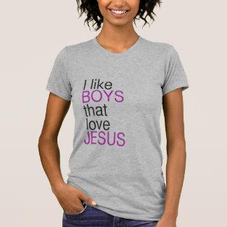Eu gosto dos meninos que amam a camisa de Jesus (a