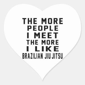 Eu gosto mais do brasileiro Jiu-Jitsu Adesivos Em Forma De Corações