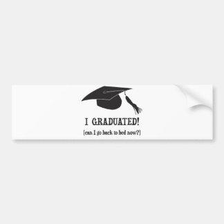 Eu graduei-me!  Posso eu ir para trás colocar Adesivo Para Carro