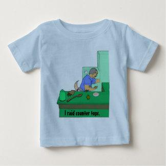 Eu invado partes superiores contrárias camiseta para bebê