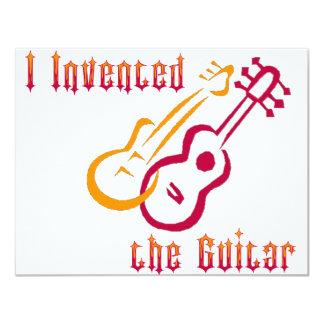 Eu inventei a guitarra convites