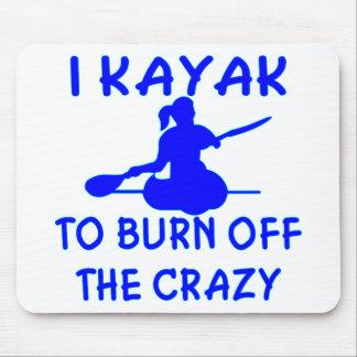 Eu Kayak para consumir o louco (x2) Mouse Pad