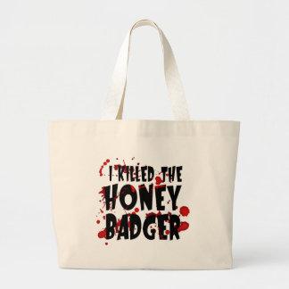 Eu matei o texugo de mel bolsas para compras