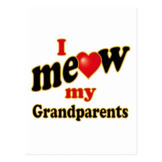 Eu Meow minhas avós Cartão Postal