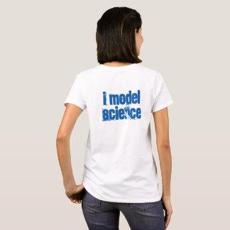 Eu modelo a ciência camiseta