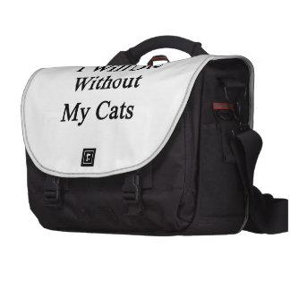 Eu morrerei sem meus gatos maleta para laptop