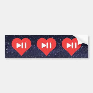 Eu música do coração controlo o ícone adesivo para carro