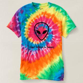 eu não acredito na camisa da alienígena dos seres
