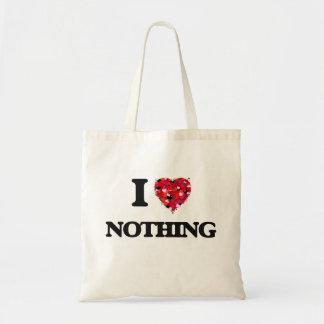 Eu não amo nada sacola tote budget