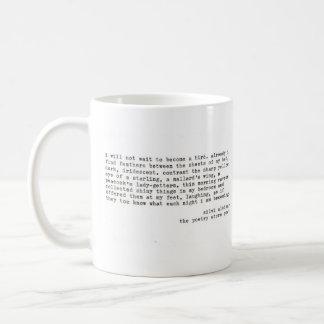 """""""eu não esperarei """" caneca de café"""