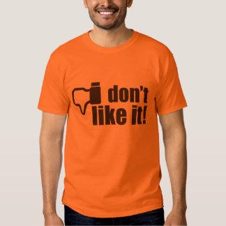 Eu não gosto d! Poucos Grâ Bretanha e ícone de Tshirts