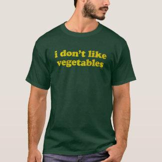 Eu não gosto da camisa dos vegetais (escura)