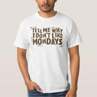 Eu não gosto do cultura Pop de segundas-feiras Camiseta