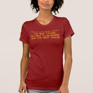 Eu não me importo se eu estou vestindo uma camisa tshirts