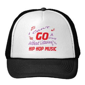 Eu não posso ir um dia sem escutar Hip Hop Boné