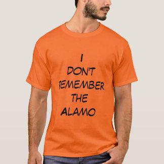 Eu não recordo o alamo camiseta