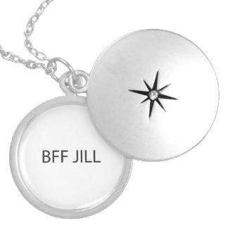 Eu não sei meu melhor amigo para sempre Jill ai Colar