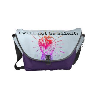 Eu não serei a bolsa mensageiro pequena silenciosa