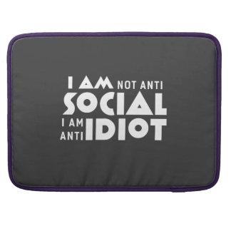 Eu não sou anti social! Pro luva de Macbook Bolsas Para MacBook